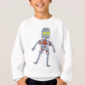 Shiny Metal Robot   Aluminum Effect Sweatshirt
