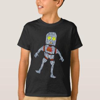 Shiny Metal Robot | Aluminum Effect T-Shirt