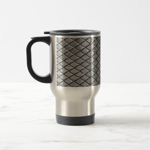 Shiny metal steel aluminum diamonds mugs