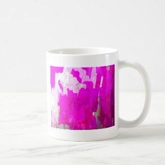 shiny metalic color pink abstract coffee mug