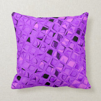 Shiny Metallic Amethyst Purple Grape Diamond Throw Pillow