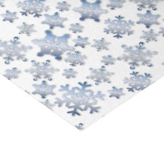 Shiny Metallic Blue Snowflakes - Tissue Paper