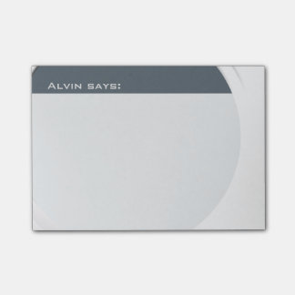 Shiny Metallic Customisable any Text and Colour Post-it® Notes