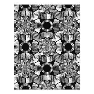 Shiny metallic damask 21.5 cm x 28 cm flyer