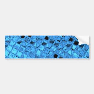 Shiny Metallic Girly Blue Diamond Sissy Sassy Bumper Sticker
