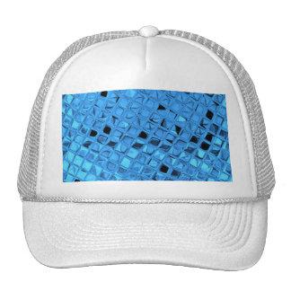 Shiny Metallic Girly Blue Diamond Sissy Sassy Trucker Hat