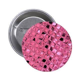 Shiny Metallic Girly Pink Diamond Sissy Sassy 6 Cm Round Badge