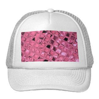 Shiny Metallic Girly Pink Diamond Sissy Sassy Trucker Hat