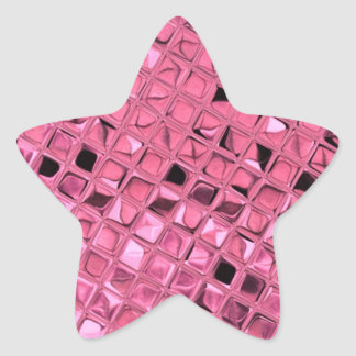 Shiny Metallic Girly Pink Diamond Sissy Sassy Star Sticker