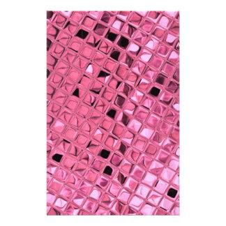 Shiny Metallic Girly Pink Diamond Sissy Sassy Custom Stationery