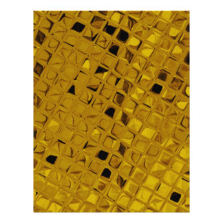 Shiny Metallic Girly Yellow Gold Diamond 21.5 Cm X 28 Cm Flyer