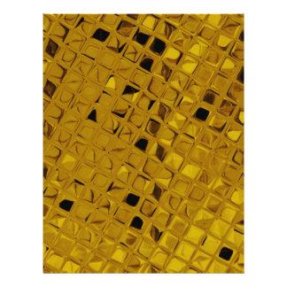 Shiny Metallic Girly Yellow Gold Diamond Flyer Design