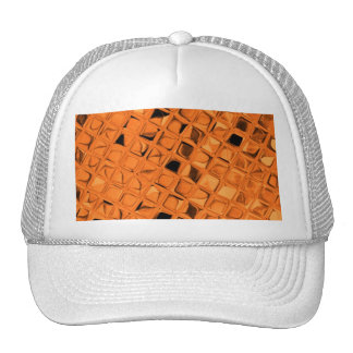 Shiny Metallic Orange Diamond Sissy Sassy Trucker Hats