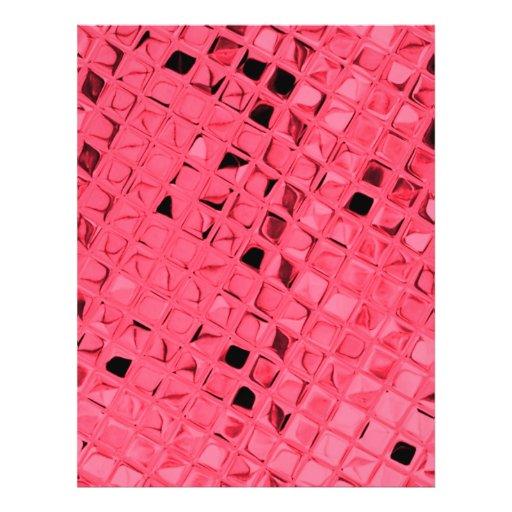 Shiny Metallic Red Diamond Faux Serpentine Flyer Design