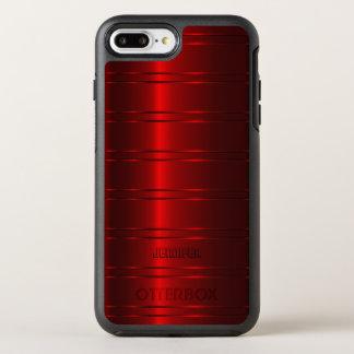 Shiny Metallic Red Stripes OtterBox Symmetry iPhone 8 Plus/7 Plus Case