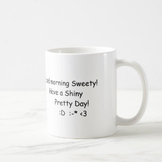 Shiny morning coffee mug
