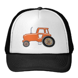 Shiny Orange Tractor Cap
