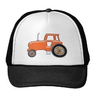 Shiny Orange Tractor Mesh Hat