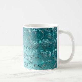 Shiny Paisley Turquoise Mugs