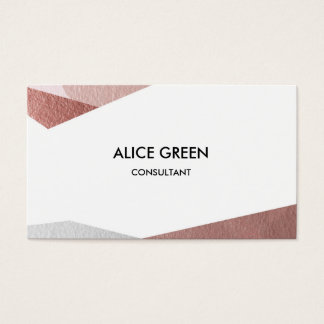 Shiny pastel triangles business card
