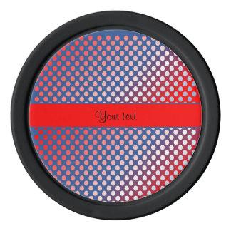 Shiny Patriotic Dots Poker Chip Set