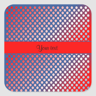 Shiny Patriotic Dots Square Sticker