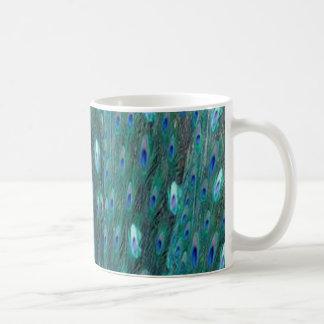 Shiny Peacock Feathers Coffee Mug
