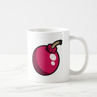 Shiny Pink Cartoon Bomb Mug