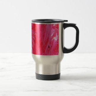 Shiny Pink Christmas Tree Stainless Steel Travel Mug