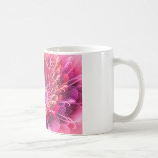 Shiny Pink Dahlia Basic White Mug