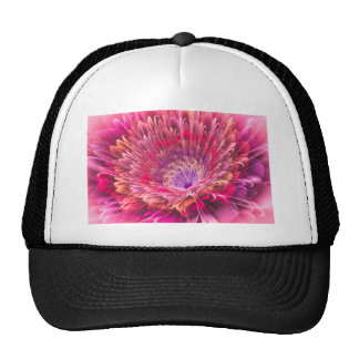 Shiny Pink Dahlia Hat