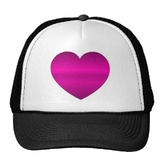 Shiny Pink Heart Mesh Hat