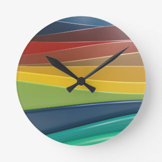 Shiny plastic layers clock