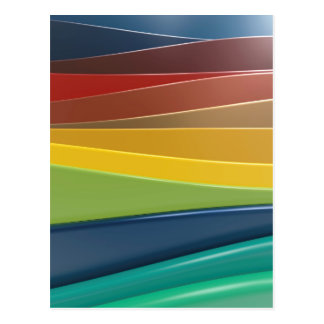 Shiny plastic layers postcard