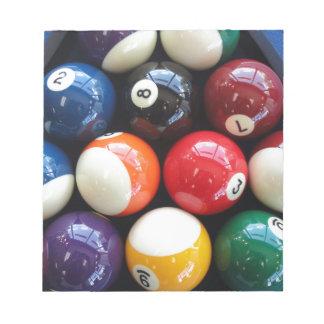 Shiny Pool balls close up Notepad