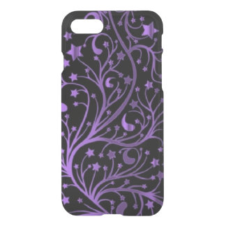 Shiny Purple Black Decorative Metallic Stars iPhone 8/7 Case
