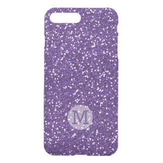 Shiny Purple Glitter Monogrammed iPhone 7 Plus Case