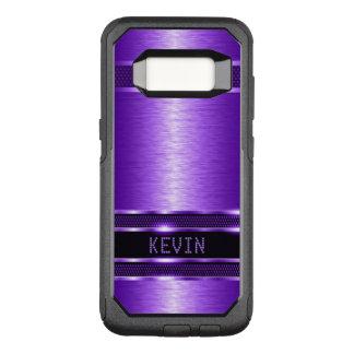 Shiny Purple Metallic Texture Modern Design OtterBox Commuter Samsung Galaxy S8 Case