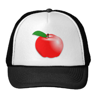 Shiny Realistic Red Apple Fruit Mesh Hat