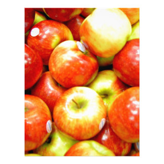 Shiny red apples full color flyer