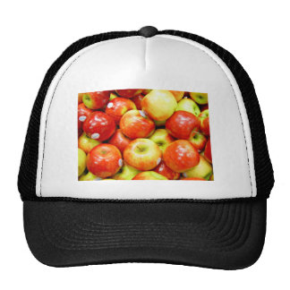 Shiny red apples trucker hats