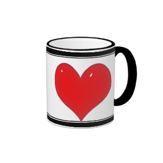 Shiny Red Heart (Add Your Text) Mugs