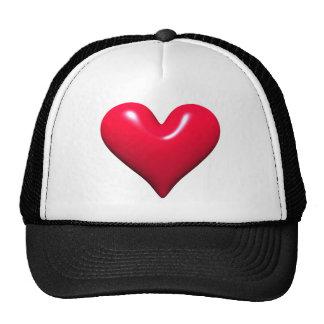 Shiny Red Heart Cap