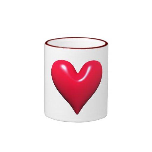 Shiny Red Heart Mug