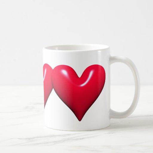 Shiny Red Hearts Mug