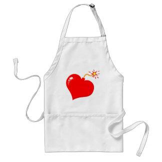 SHINY RED LOVE HEART BOMB GRAPHICS VECTORS FLIRT C APRONS