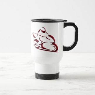 Shiny Red Metallic Motorcycle Racer Coffee Mug