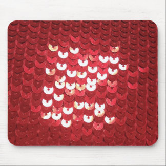 Shiny Red Sequins Mouse Pad