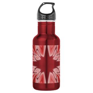 Shiny red silk star 532 ml water bottle