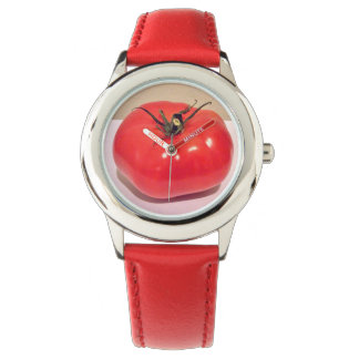 Shiny Red Tomato 4sullivan Wrist Watches